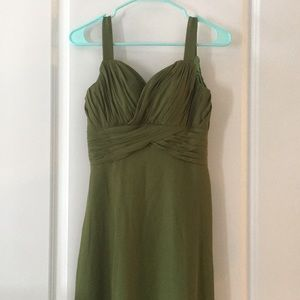 Dresses & Skirts - Olive green bridesmaid dress prom dress NWT size 4